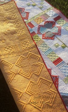 Flower Patch designed and quilted by Judi Madsen