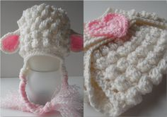 Lamb Baby Hat and Diaper Cover  Baby Lamb by ShelleysCrochetOle