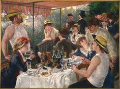 Das Frühstück der Ruderer, Auguste Renoir, QR-Code, QR-Kunstwerk