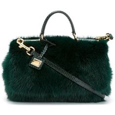 Dolce & Gabbana small 'Miss Sicily' shoulder bag (177.390 RUB) ❤ liked on Polyvore featuring bags, handbags, shoulder bags, green, real leather handbags, green handbags, green purse, genuine leather shoulder bag and leather handbags