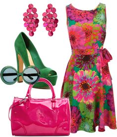 """Experimenting - Bright Spring"" by lizzycb ❤ liked on Polyvore"