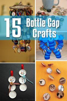 15 Bottle Cap Crafts | Craftspo