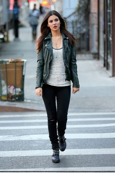 Victoria Justice, Filming 'Eye Candy' Pilot in the East Village, New York, November 13, 2013