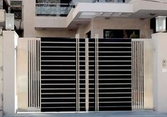 Simple Gate Designs, Modern Main Gate Designs, Iron Main Gate Design, Home Gate Design, House Main Gates Design, Main Door Design, House Front Design, Small House Design, Modern Gates