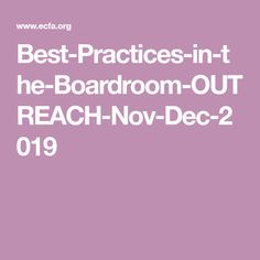 Best-Practices-in-the-Boardroom-OUTREACH-Nov-Dec-2019 Best Practice, Board, Planks