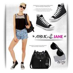 """Atomic Jane"" by atomic-jane ❤ liked on Polyvore featuring MICHAEL Michael Kors, Converse, STELLA McCARTNEY and atomicjane"