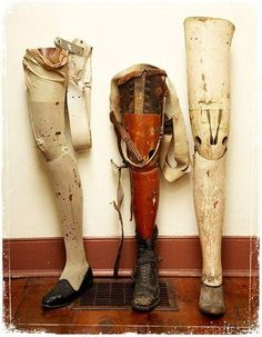 wooden prosthetics - we've come a long way!