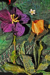 Free Spirit Art Studio: Quilting Arts In Stitches Emagazine 3 Dimensional Flowers