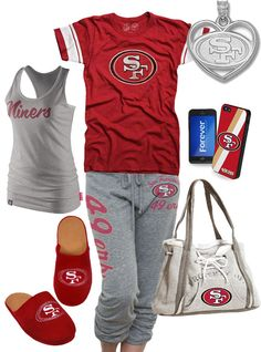 3721e4e336bf San Francisco 49ers inspired outfit. I need this! 49ers Outfit