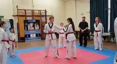 Kids practicing martial arts in trowbridge for self defense.
