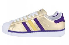 super popular 75379 bad35 ADIDAS SUPERSTAR (LAKERS)