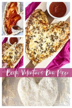 Beefy Valentine's Day Pizza...a fun to create a romantic dinner for two or your family! A sweet, thicker style crust, spices, beef and cheese. Make this heart shaped pizza soon! Romantic Dinner For Two, Romantic Dinners, Beef Recipes, Top Recipes, Pizza Recipes, Yummy Recipes, Valentines Day Pizza, Heart Shaped Pizza, Cocktail Recipes