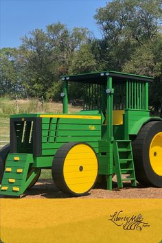 Build your own playground tractor from our plans and your lumber. Bring smiles to children of all ages.