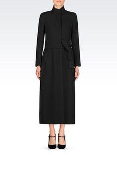 Emporio Armani Designer Long Coats for women - Armani.com Emporio ...