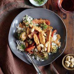 Chicken Stir-Fry with Peanut Sauce   CookingLight.com