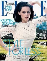 Twilight beauty Kristen Stewart shows off her inspired style as she graces the cover ELLE magazine Fashion Magazine Cover, Fashion Cover, Star Fashion, Fashion News, Fashion Trends, Kristen Stewart, Alli Simpson, Magazin Covers, Uk Magazines