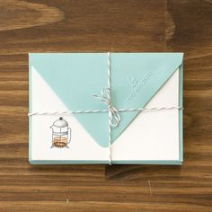 Betsy Ann Paper: Tea &Coffee Notecards, gift box of 8 #MarthaStewartAmericanMade #AnyOccasion