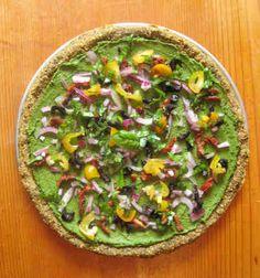 Pistachio Pesto Pizza - Plant-base (Raw Vegan) by Rawfully Tempting