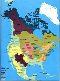A map Native American tribes of North America.....pre-European contact.