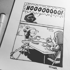 Tea Time with Darth Vader x Calvin and Hobbes