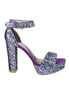 Sparkle    Glitter and suede trim sandal, Charles by Charles David, $115, visit charlesdavid.com    Photo: Mark Platt