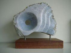 Blue vieuw - blauwe albast - Ans van Bakel