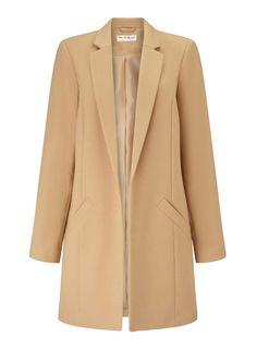 Camel Duster Coat - Coats & Jackets- Miss Selfridge US