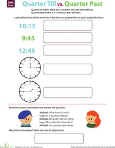 Telling Time: Quarter Till and Quarter Past