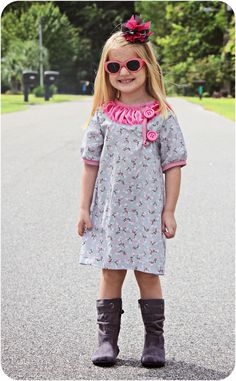 Freebook Brooklyn kleid Gr. 3 Monate - 8 Jahre