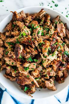 These Crispy Pork Carnitas are seriously bursting with flavor yet so simple to make! This is the meat you want for your tacos, burritos, sandwiches, you name it. It's to die for!Please visitfor full recipes. Pork Recipes, Mexican Food Recipes, Real Food Recipes, Dinner Recipes, Cooking Recipes, Healthy Recipes, Ethnic Recipes, Oven Recipes, Mexican Dinners