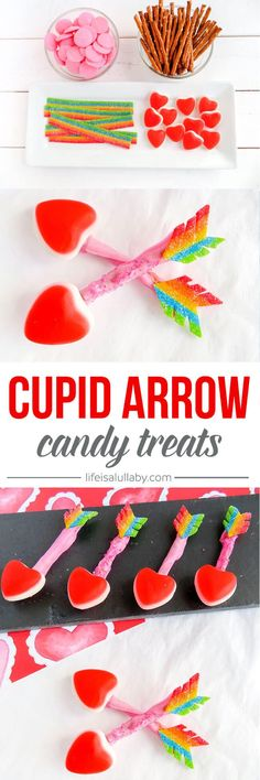 These DIY Cupid Arrow Candy treats are so cute and easy to make! These would be perfect to make with the kids for Valentine's Day.