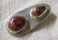 Oval Fire Opal Sterling Silver Pendant Fire Opal by QuietMind
