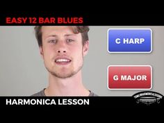 Awesome Beginner Harmonica 12 Bar Blues - C Harmonica Lesson + Free harp...