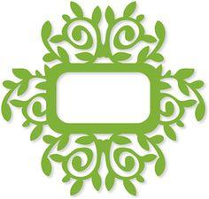 Silhouette Online Store - View Design #9147: leafy flourish frame