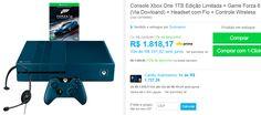 Console Xbox One 1TB Edição Limitada  Game Forza 6 (Via Dowloand)  Headset com Fio  Controle Wireless << R$ 159999 >>