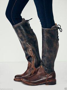 Bed Stu Free People Manchester II Tall Boots Black Rustic Teak Rustic  Vintage. Stivali Di Pelle AltiScarpe ... e5a4572ff1f