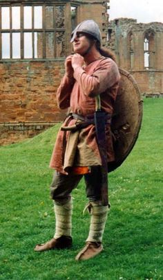 Anglo-Saxon Warrior - c. 1000 AD; mainly the leg binding