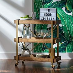 MUST BUYS: 14 Trendy Bar Carts & Serving Carts That People Love (Top-Rated)    These bar, wine, and serving carts come come in gold, chrome, nickel, and wood finishes with glass shelves. Oh, and they're all super popular. Check out our favorites.     bar cart, bar cart styling, bar cart ideas, bar cart decor, serving cart, serving cart decor ideas #homedecor #homedecorideas #barcart #barcarts