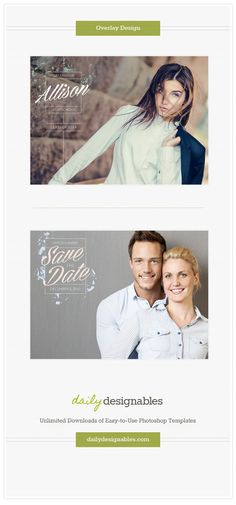 Photography Overlays - photoshop templates for photographers, designers & the creative in everyone...