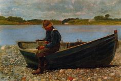 Winding Line, Oil On Canvas by Winslow Homer (1836-1910, United States)