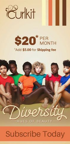 Represent diversity with stylish natural curlz that twist for days! Subscribe now and each month you'll get a fancy wrapped, snuggly packed CurlKit in the mail with fresh samples of new brands for your beautifying pleasure!