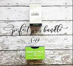 Just when I thought we couldn't out do ourselves we did!!   Introducing the Perfect Pair Bundle!  For only 49 (that is over 60 in savings) you get these 2 amazing products  How does this pair work? The natural and gentle 2-day cleanse will help reset your body and help you look your best!  The Greens will work to detox and balance your body while fueling it with over 38 fruits and veggies!  443.595.6665 for more info - http://ift.tt/1HQJd81