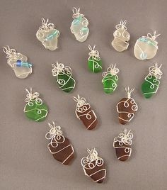 how to wire wrap beach glass the easy way