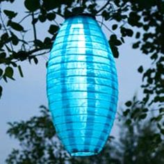 This Solar Turquoise Nylon Lantern will glow without the hassle of stringing electrical cords or plug-ins. Outdoor solar lighting is so beautiful and easy! Japanese Lighting, Outdoor Solar Lanterns, Unique Lighting, Solar Lights, Glow, Table Lamp, Home And Garden, Turquoise, Floral