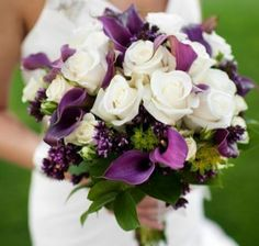Pretty purple wedding bouquet (pic only)