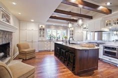 Love this kitchen! Open, full of natural light with a hint of rustic charm!