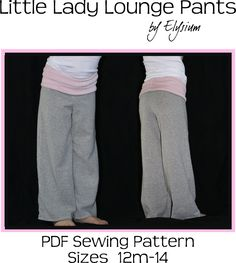 The Little Lady Lounge Pants Pattern for Avery to do!
