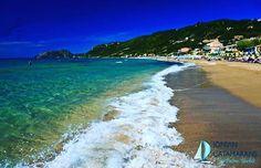 Agios Gordios Beach in Corfu! Cool Landscapes, Landscape Paintings, Agios Gordios, Corfu Island, Instagram Feed, Instagram Posts, Catamaran, Adventure Time, Travel