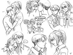 Image about anime in snk by Rhaenys Velaryon on We Heart It Attack On Titan Funny, Attack On Titan Ships, Attack On Titan Anime, Levi Ackerman, Levihan Smut, Mikasa, Hanji And Levi, Emo, Eremika