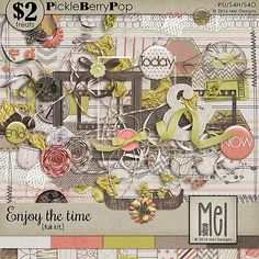 Enjoy the time - Full kit By Mel Designs